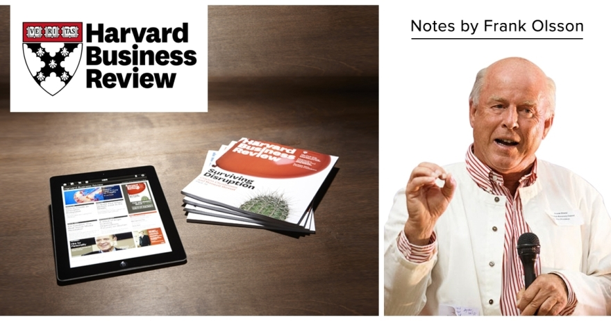 Harvard Business Review Notes by Frank Olsson- Jan/Feb 2020