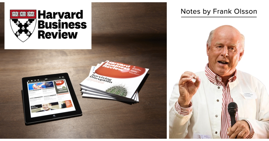 Harvard Business Review Notes by Frank Olsson